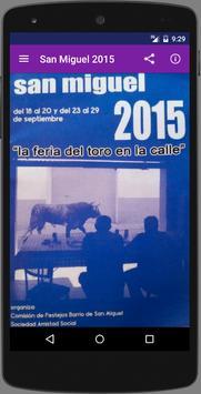 Fiestas San MIguel 2015 poster