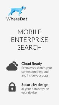 WhereDat - Enterprise Search poster