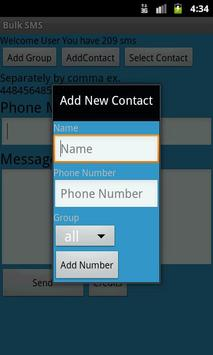 Bulk SMS apk screenshot