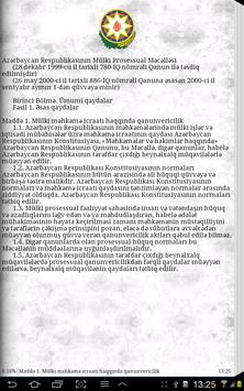 Civil Procedure Code of Azerb apk screenshot