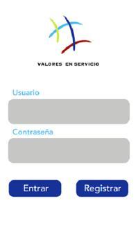 Valores en servicio poster
