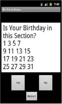 BirthdayGuess poster