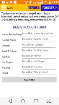 TENDER INDONESIA apk screenshot
