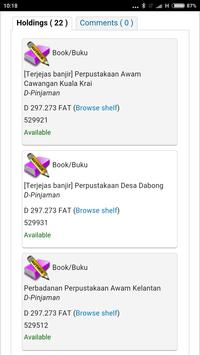 Kelantan Public Library (OPAC) apk screenshot