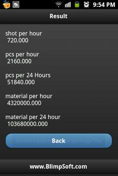 Plastic Injection CalculatorM apk screenshot