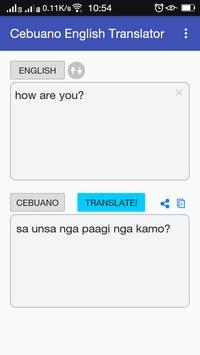 Cebuano English Translator apk screenshot