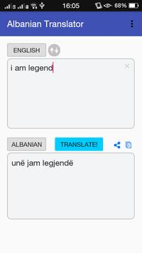 Albanian - English Translator apk screenshot