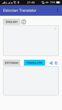 Estonian - English Translator poster