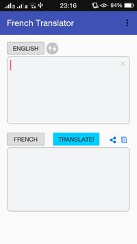 French - English Translator poster