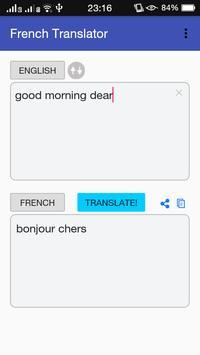 French - English Translator apk screenshot
