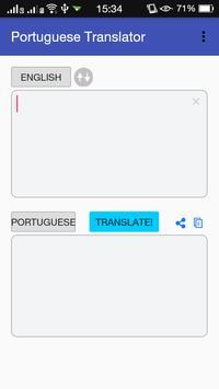 Portuguese English Translator poster