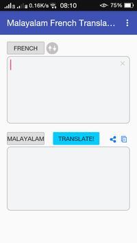Malayalam French Translator apk screenshot