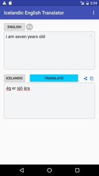 Icelandic English Translator apk screenshot