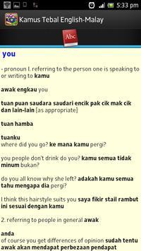 Kamus Tebal English Malay apk screenshot