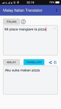 Malay Italian Translator apk screenshot