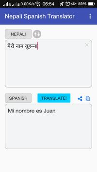 Nepali Spanish Translator apk screenshot