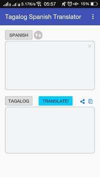 Tagalog Spanish Translator poster