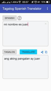 Tagalog Spanish Translator apk screenshot