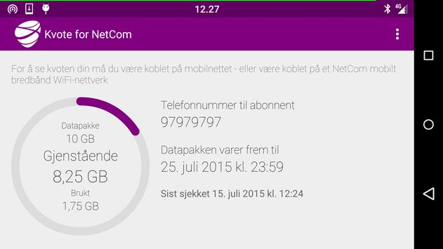 Kvote for Telia apk screenshot
