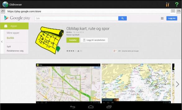 ObBrowser - A WEB client apk screenshot