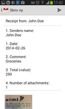 Send Receipts FREE apk screenshot
