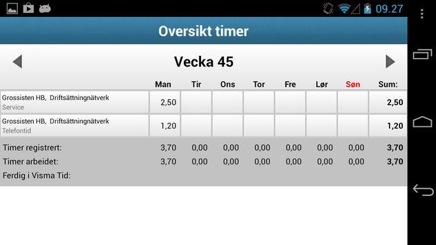 Visma Avendo Time apk screenshot