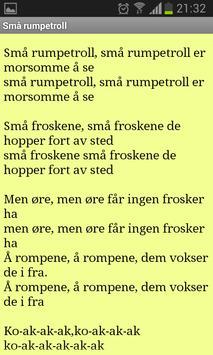 Norske barnesanger apk screenshot
