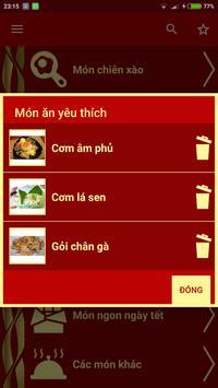 Công Thức Nấu Ăn apk screenshot