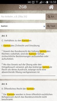 SchweizerRecht - OR & ZGB apk screenshot