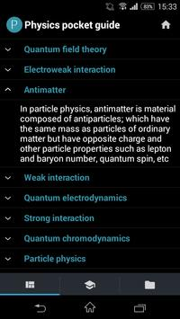 Physics pocket guide poster