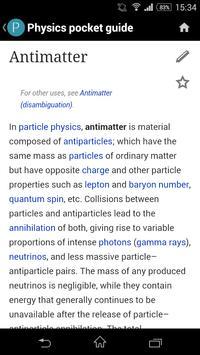 Physics pocket guide apk screenshot