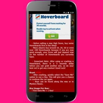 Keys for Subway Surfers apk screenshot