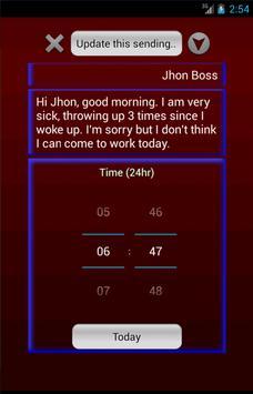 Late SMS apk screenshot