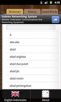 English Indonesian Dictionary apk screenshot