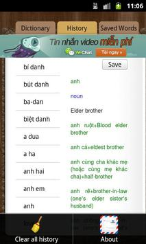 English Vietnamese Dictionary apk screenshot