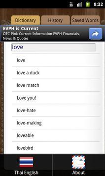 Dictionary English Thai apk screenshot