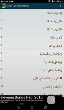 Quran Mp3 Reciter Qiraat apk screenshot