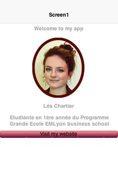 Lea Chartier CV poster
