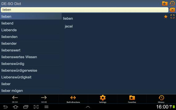German Somali dictionary apk screenshot