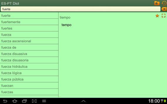 Spanish Portuguese dictionary apk screenshot