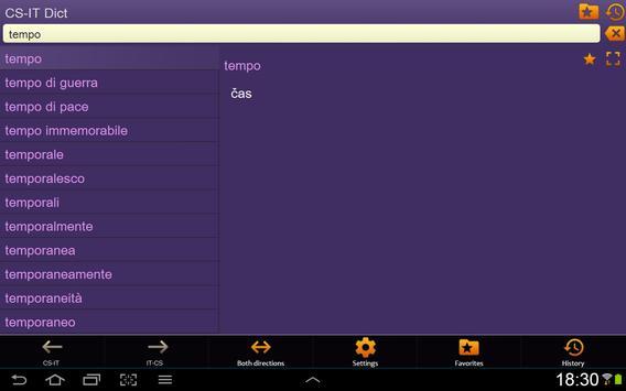 Czech Italian dictionary apk screenshot