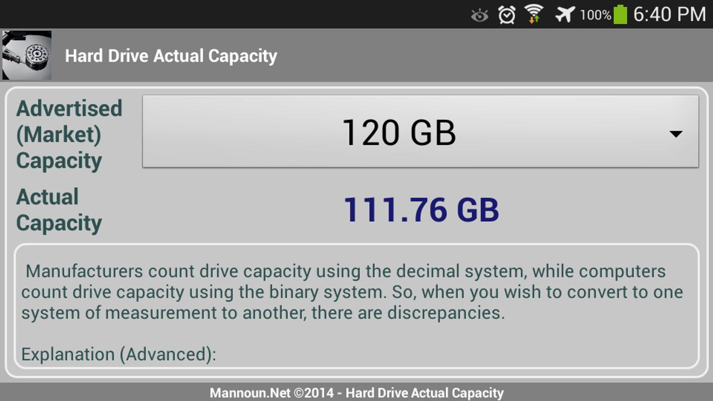 Hard Drive Actual Capacity Apk Download Free Tools App