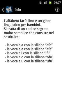 Alfabeto Farfallino apk screenshot