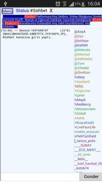 Mobil Chat Sohbet irc programı apk screenshot