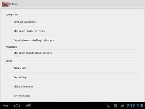 FTP Player (client) apk screenshot