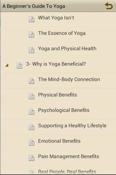 Beginner's Guide To Yoga-EBOOK apk screenshot