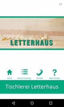 Tischlerei Letterhaus poster
