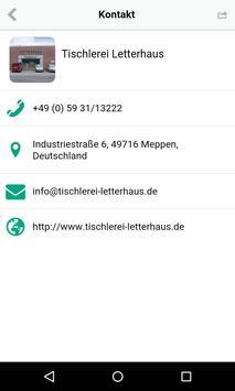 Tischlerei Letterhaus apk screenshot