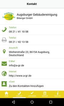 Augsburger Gebäudereinigung apk screenshot