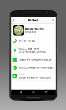 Restaurant Rüti Grill and Go apk screenshot